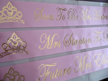 Pink & Gold Hen Night Sashes